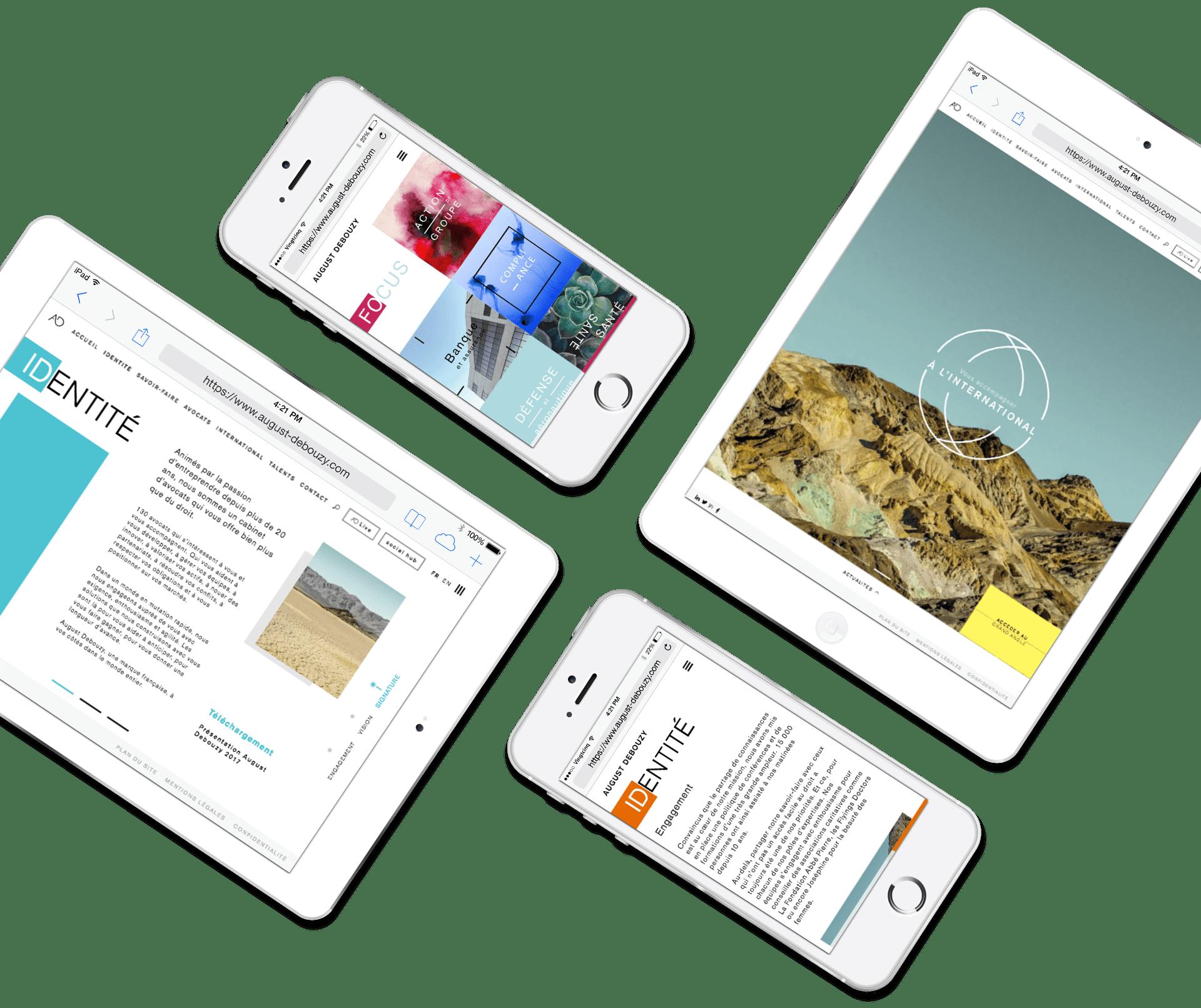 August Debouzy - Site responsive tablette et mobile
