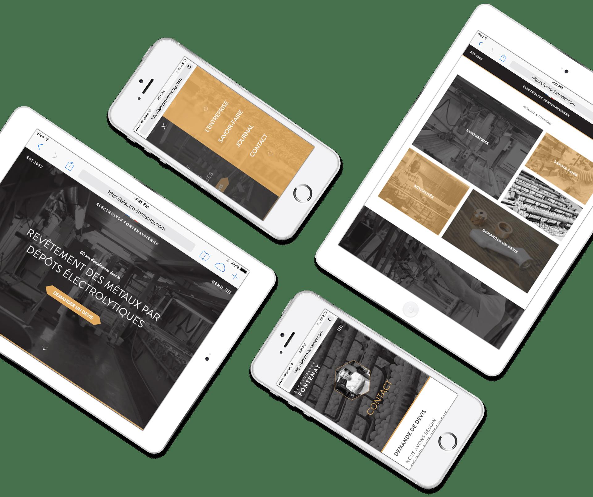 Electrolyse - Site responsive tablette et mobile
