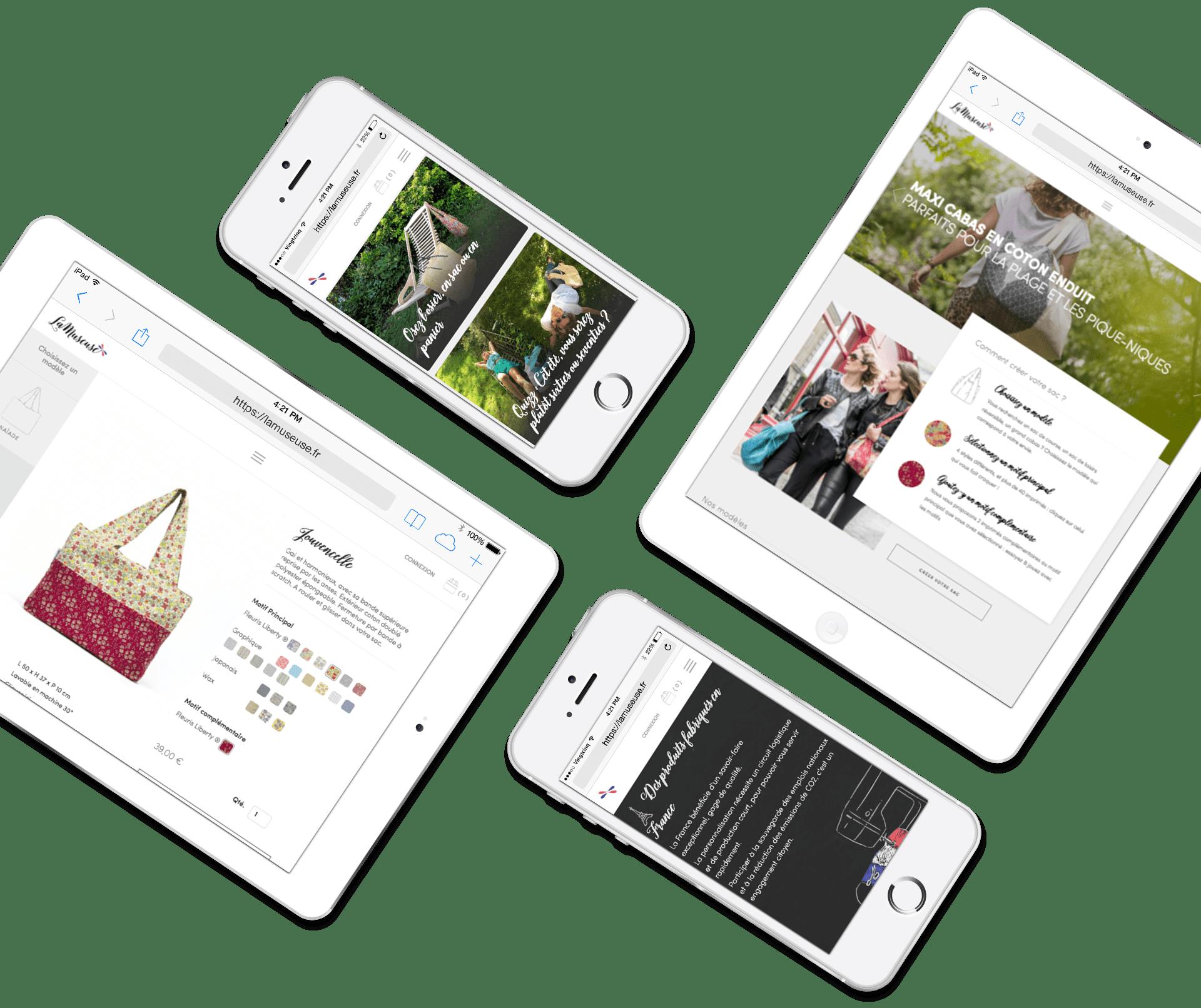 La Museuse - Site responsive tablette et mobile